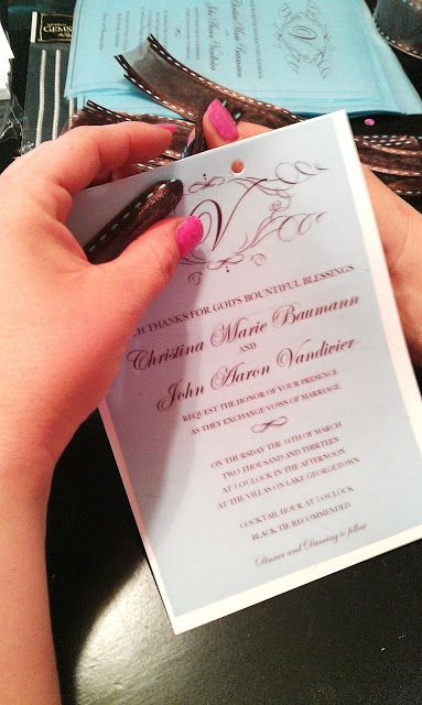 How To Make Your Own Wedding Invitations for under $50 – BridalTweet Wedding Forum & Vendor Directory