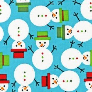 Robert Kaufman - Jingle Snowmen Winter - cotton fabric
