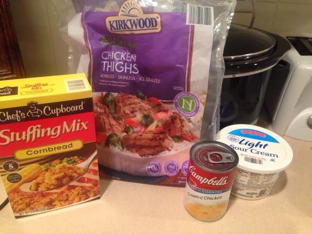 Wishes do come true...: Chicken and Stuffing-Crockpot