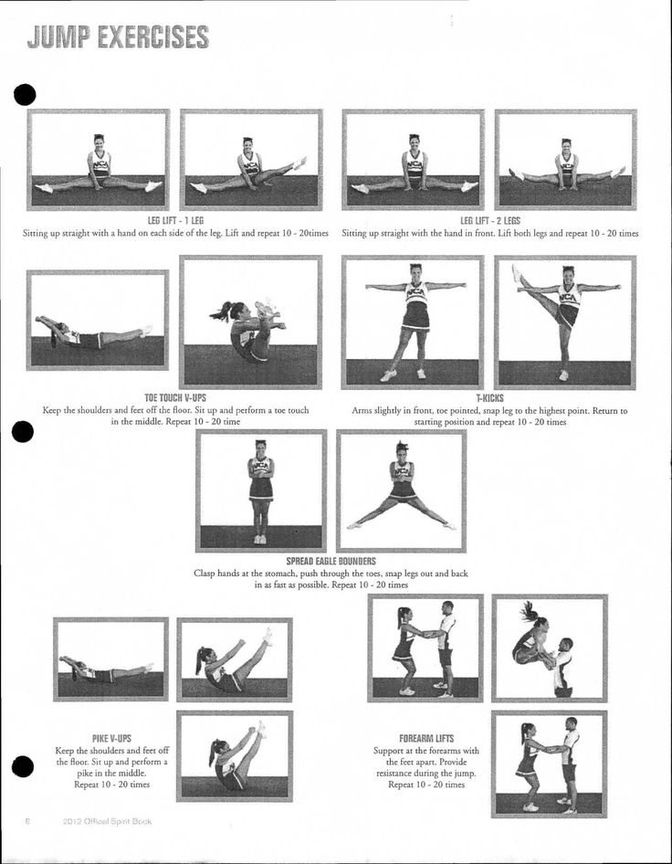 88 best cheerleading training  conditioning  workouts images on pinterest