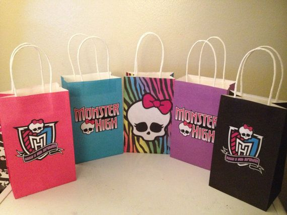 Monster High Favor Goody Bags By Clevercreations112 On Etsy 28 99 Let S Party In 2018 Pinterest And