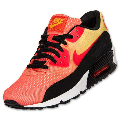 Mens Nike Air Max 90 EM Running Shoes | FinishLine.com | Team Orange/Tour Yellow/Black. Like the gradient colors.
