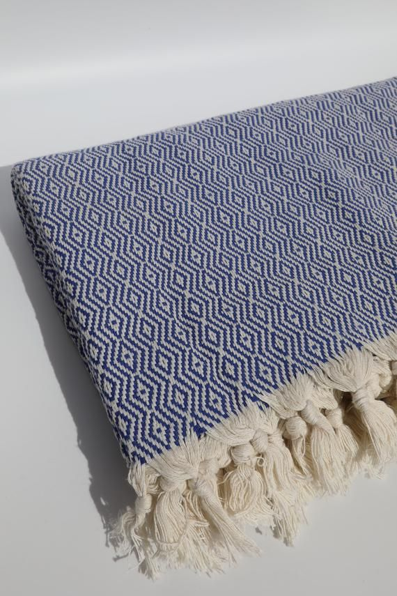 Blue Woven Blanket Handloomed Throw Blanket Personalized Etsy Couch Throw Blanket Sofa Throw Blanket Woven Blanket
