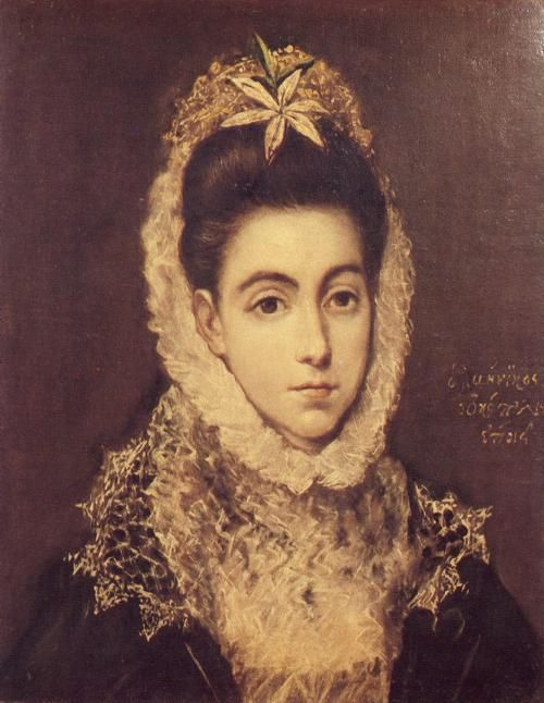 Lady with a Flower in Her Hair - El Greco  Discover the coolest shows in New York at www.artexperience...