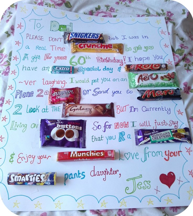 Easy inexpensive gift for dads!  #crafty #father #dad #chocolate
