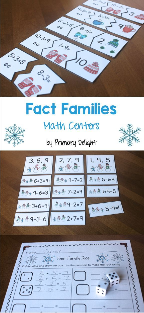 Practice fact families with 4 fun activities: sorts, puzzles, and a dice game.