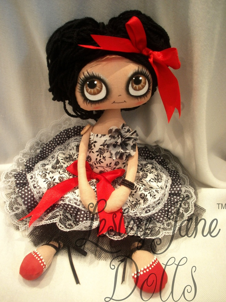 Claire, Collectable Art Rag Doll by Lesley Jane Dolls