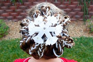 Holiday Hairstyles: Snowflake