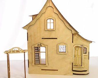 01:24 Maßstab Miniatur Puppenhaus Bausatz Nutcote für Sammler