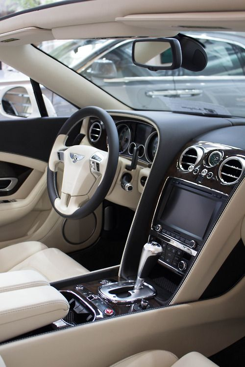 Billionaires Road Tumblr Image of a Bentley Interior.