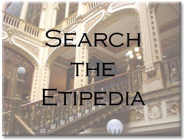 Emily Post's online Etiquette Encyclopedia. Brilliant.