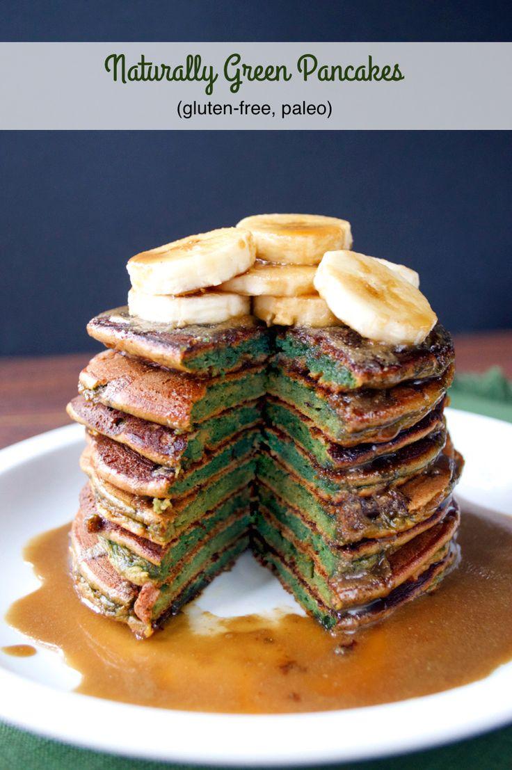 Naturally Green Pancakes | Plaid and Paleo