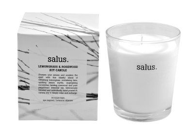 Lemongrass and Rosewood Soy Candle image | Salus Candles