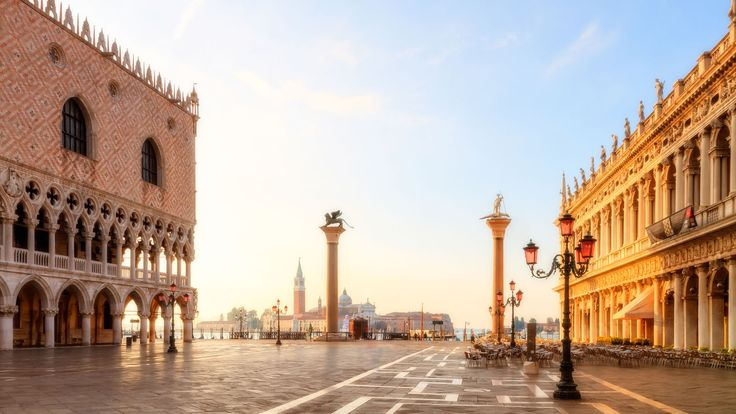 The Piazza San Marco is the symbolic heart of Venice. It is referred to as the drawing room of Europe and hosts many historical treasures.