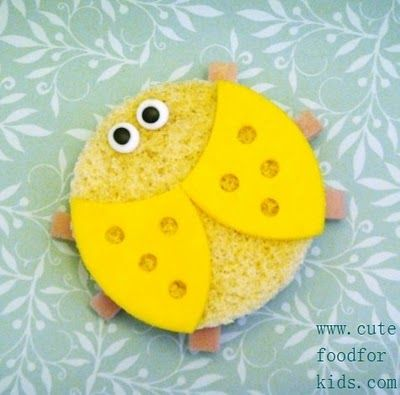 What a super fun sandwich? Could you imagine opening your lunch box as a kid and finding this? I think I would love it!