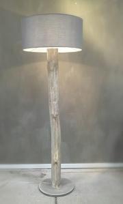 stoere vloerlamp | Houten Lampen