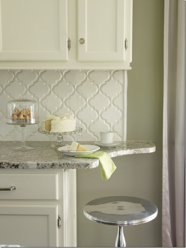 love the way they finished off this counter with a curve beyond the  backsplash! it - 25+ Best Ideas About Arabesque Tile Backsplash On Pinterest