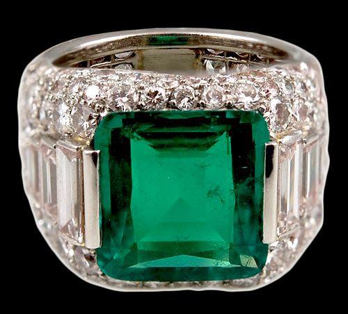 highly important bulgari emerald diamond ring yafa jewelry