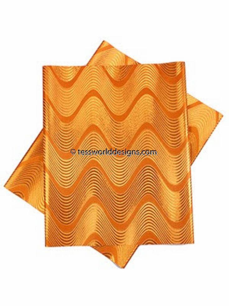 Orange gele/ head wraps/ gele fabric/ 2 piece African gele/ Nigerian gele/ chevron GL21 by TessWorldDesigns on Etsy