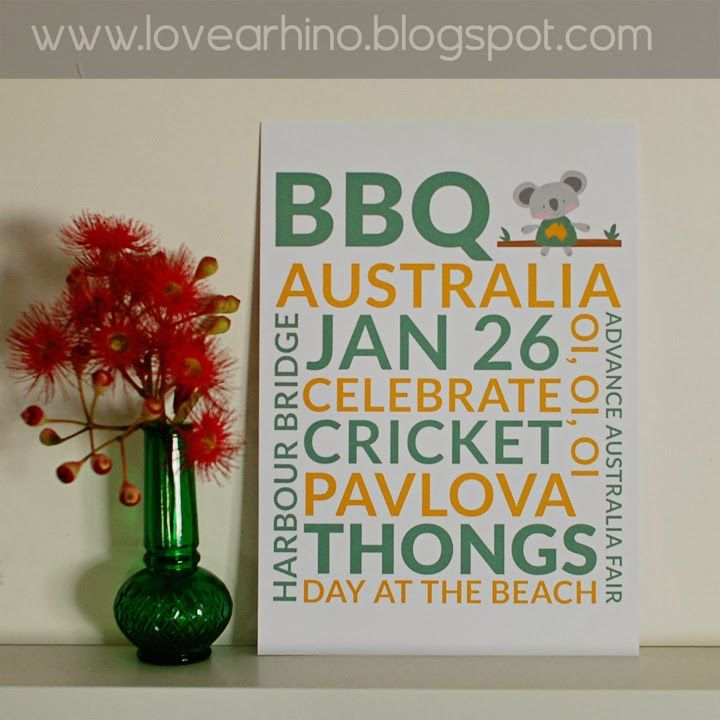 Australia Day Freebie Subway Printable
