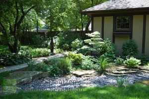 swale for back yard flooding problem. kaaren frantzen garden revolution chicago