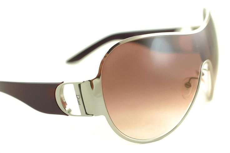 DIOR I LOVE DIOR 1 Ladies Womens Oversized Shield Sunglasses SILVER PLUM PURPLE #DIOR