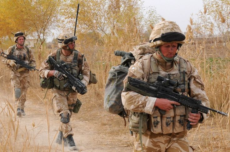 A trio of Royal Marines Commandos from 42 Commando taking part in Operation Sond Chara (Red Dagger), Afghanistan, late December 2008.