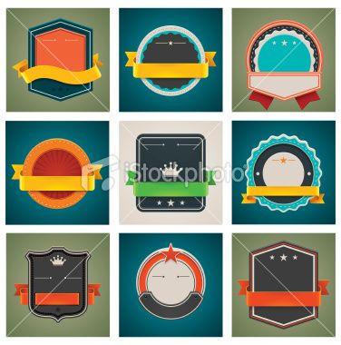 Retro badges set Royalty Free Stock Vector Art Illustration