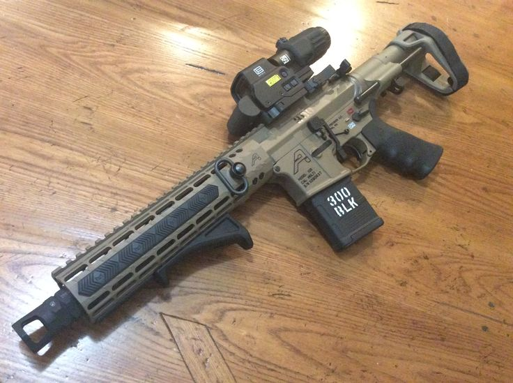 "300 Blackout Pistol. Aero precision upper/lower, Ballistic Advantage 10.3"" premium Barrel, SB tactical brace, Geissele trigger."
