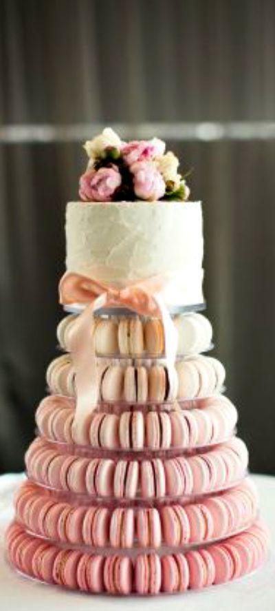 Wedding Macaroon Cake                                                                                                                                                     More