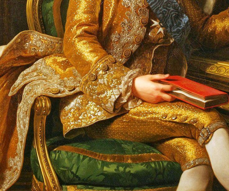 ALEXANDER ROSLIN. Rey Gustavo III, Rey de Suecia y sus hermanos (detail). 1771.