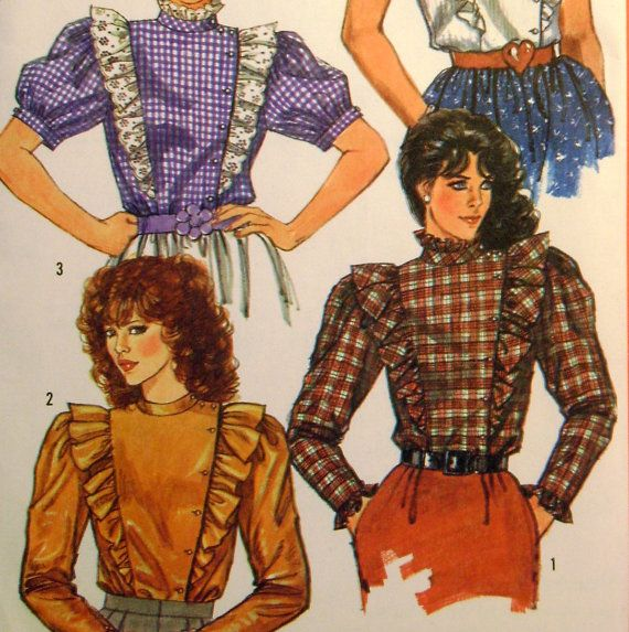 Vintage Sewing Pattern 1980s Prairie Blouse by ThePatternVixen, $8.00