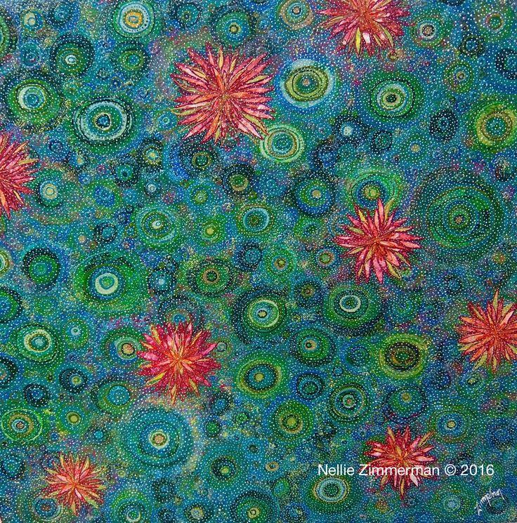 Lily Pond 120x120cm  Nellie Zimmerman © 2016