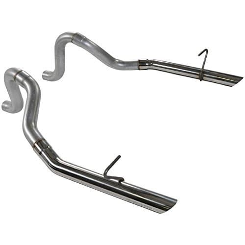 Flowmaster 815814 87-93 Mustang Tailpipes, 1PR. 409S, Silver stainless steel