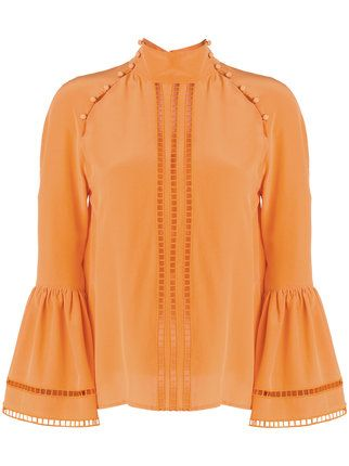 Fendi embroidered fitted blouse