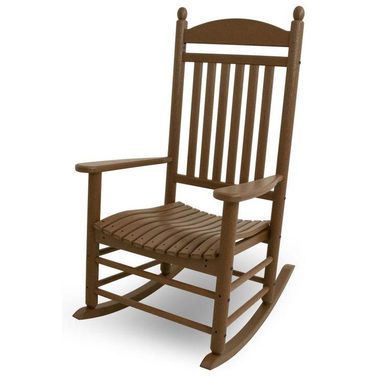 Outdoor POLYWOOD® Jefferson Recycled Plastic Rocking Chair Teak - J147TE