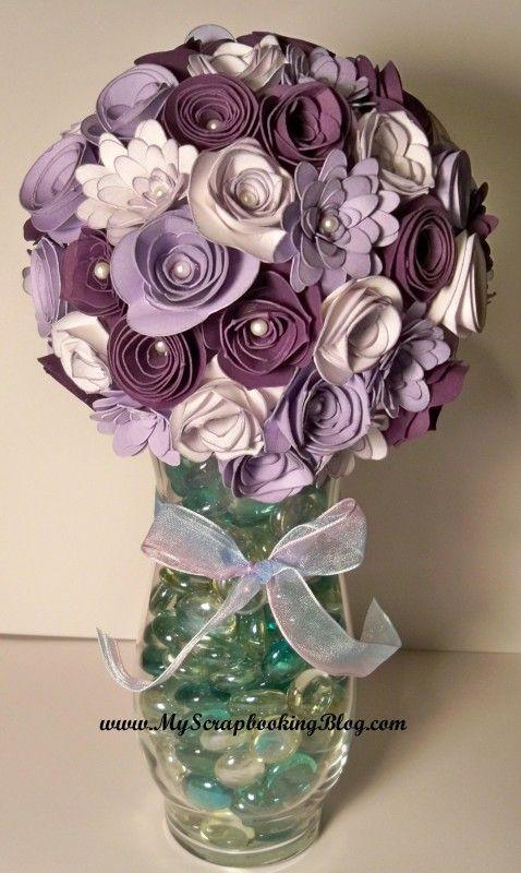 vase with flowers cut from art philosophy cricut cartridge