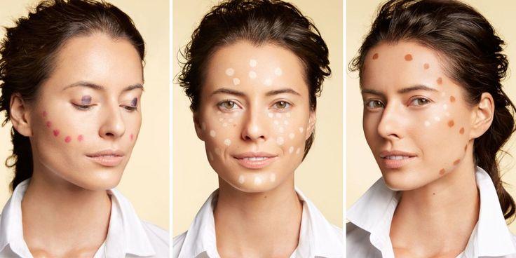 Perfekcyjny makijaż dzięki technice kropek