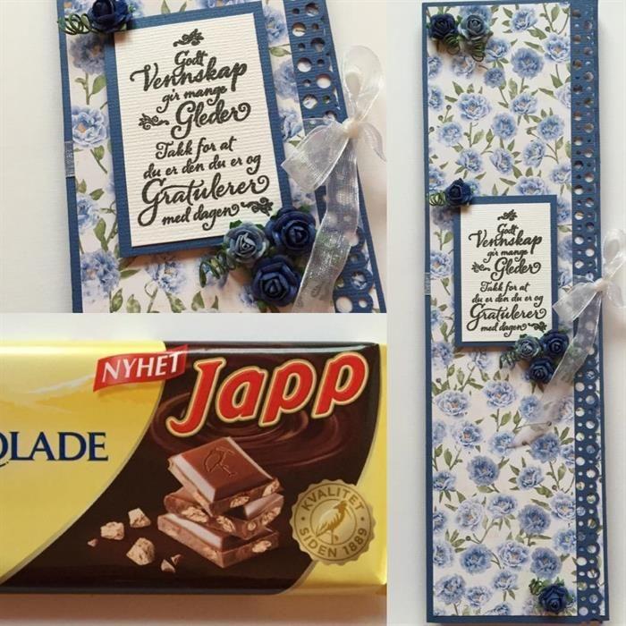 DIY lag sjokoladekort selv i gave. Bursdagsgave, eller en liten ekstra gave.