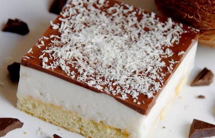 Régime Dukan (recette minceur) : Bounty (entremet noix de coco cacao) #dukan http://www.dukanaute.com/recette-bounty-entremet-noix-de-coco-cacao-9386.html