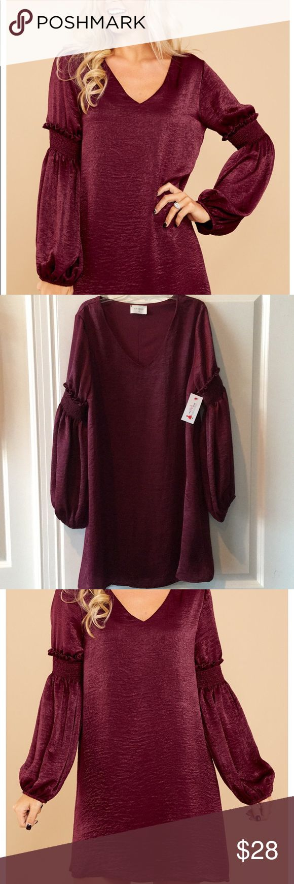 """NWT So Hot! By Red Dress Boutique Burgundy wine dress by Red Boutique """"Everly"""". See last photo for details. Model is a size 2 and is 5'2"""" with 25"""" waist. Pretty dress for a fun night out Red Dress Boutique Dresses"""