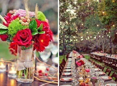 colorful backyard wedding