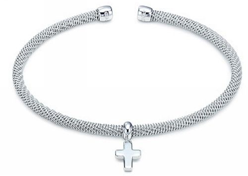 Tiffany Jewelry Bangles Bead Cross Inlay Outlet