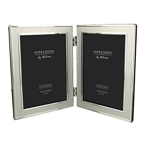 Double Silver Plated Photo Frame Description This silver plated double photo frame is great for displaying photos of loved ones or special occasions. The double photo frame is hinged in the middle which means that it is easy to display on any flat surface. The photos are put into the frame via... more details available at https://perfect-gifts.bestselleroutlets.com/gifts-for-babies/toys-games-gifts-for-babies/product-review-for-double-silver-plated-5-x-7-photo-frame-gift-new-