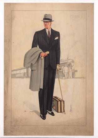Menswear 1930s- Italian, Plate 024 :: Costume Institute Fashion Plates