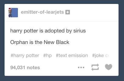 When someone combined Harry Potter with an OITNB reference.