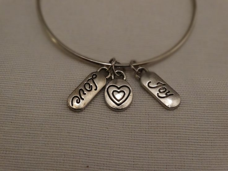 Bangle bracelet with charms by dRmCreativeDesigns on Etsy