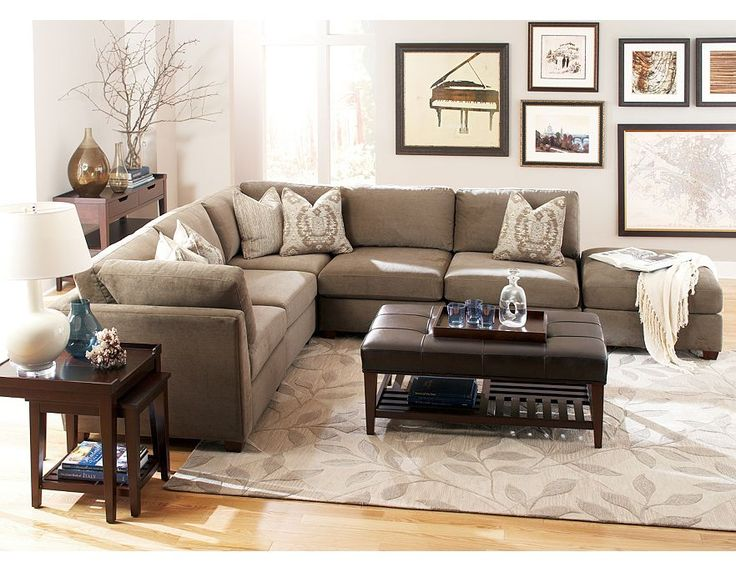 great sectional couch, like that the ottoman could become a chaise - 32 Best Transitional Style By Havertys Furniture Images On Pinterest