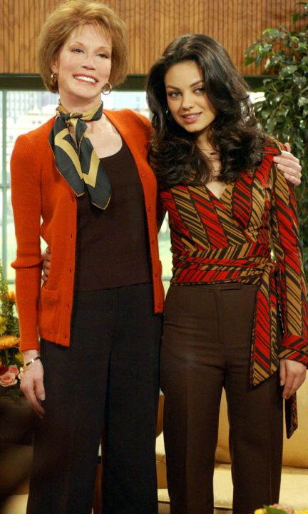 Mila Kunis' Most Amazing Fashion Moments... Seen with Mary Tyler Moore ( season 8 ) That 70's Show ( RIP Mary Tyler Moore  December 29, 1936 - January 25, 2017 )