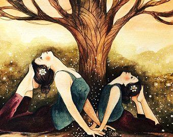 meditación de yoga con la impresión del arte de por claudiatremblay